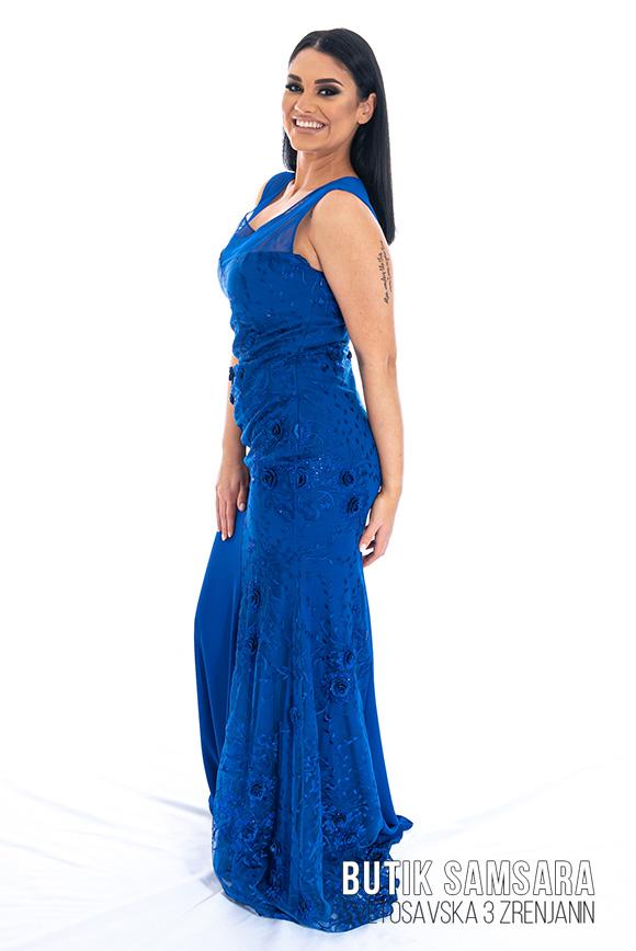 butik samsara zrenjanin zenska duga plava haljina 016