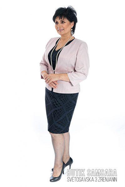butik samsara zrenjanin zenska crna haljina rozi blezer 016