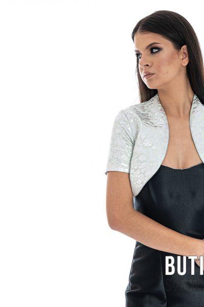 butik samsara zrenjanin zenska crna haljina sivi prsluk 004