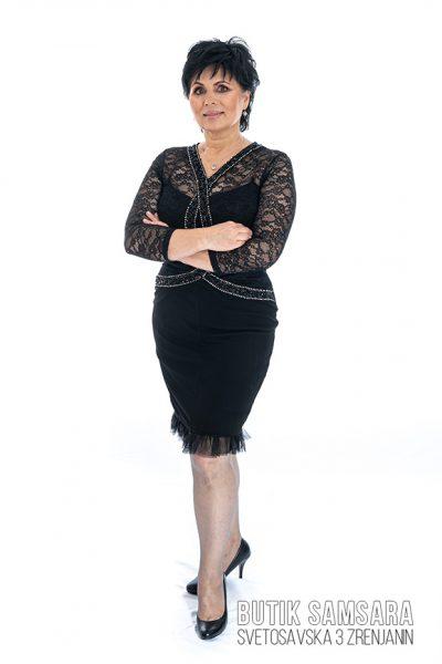 butik samsara zrenjanin zenska crna kratka haljina 011
