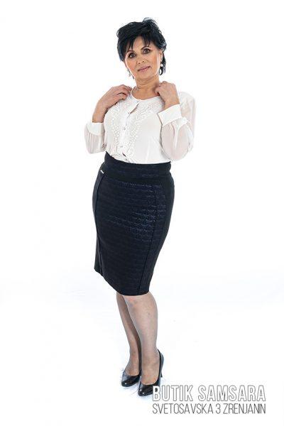 butik samsara zrenjanin zenska crna suknja bela bluza 015