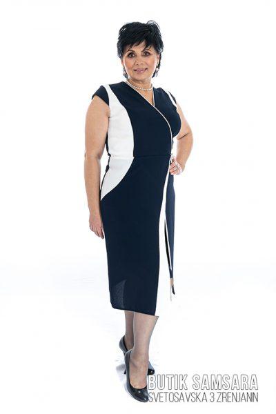 butik samsara zrenjanin zenska crno bela haljina 016