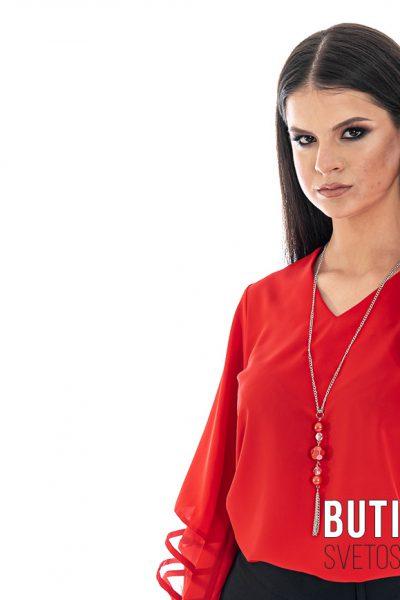 butik samsara zrenjanin zenska crvena bluza crna suknja 005