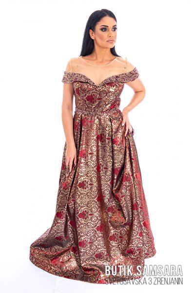 butik samsara zrenjanin zenska duga crvena haljina 018