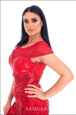 butik samsara zrenjanin zenska duga crvena svecana haljina