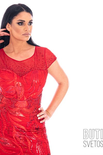 butik samsara zrenjanin zenska duga crvena svecana haljina 015