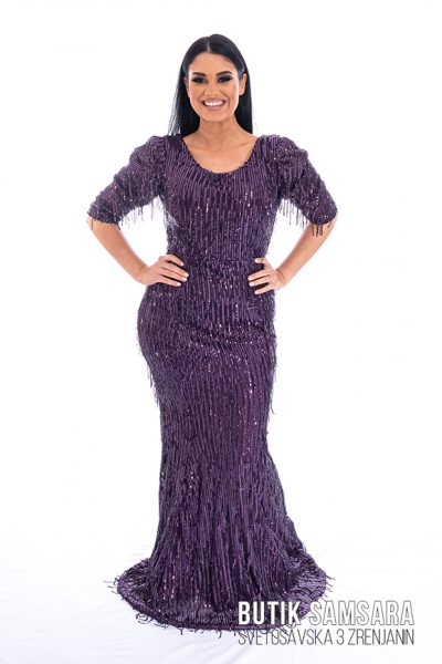 butik samsara zrenjanin zenska duga ljubicasta haljina 021