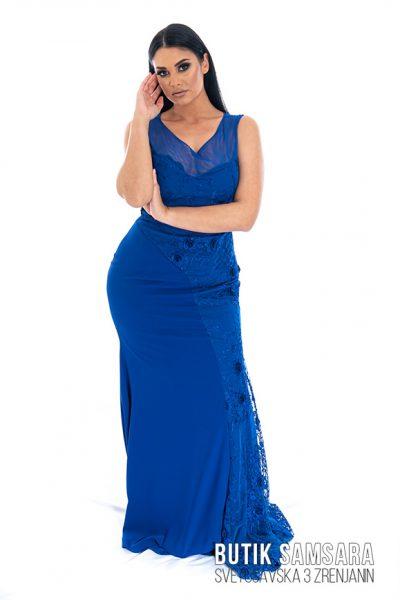 butik samsara zrenjanin zenska duga plava haljina 022